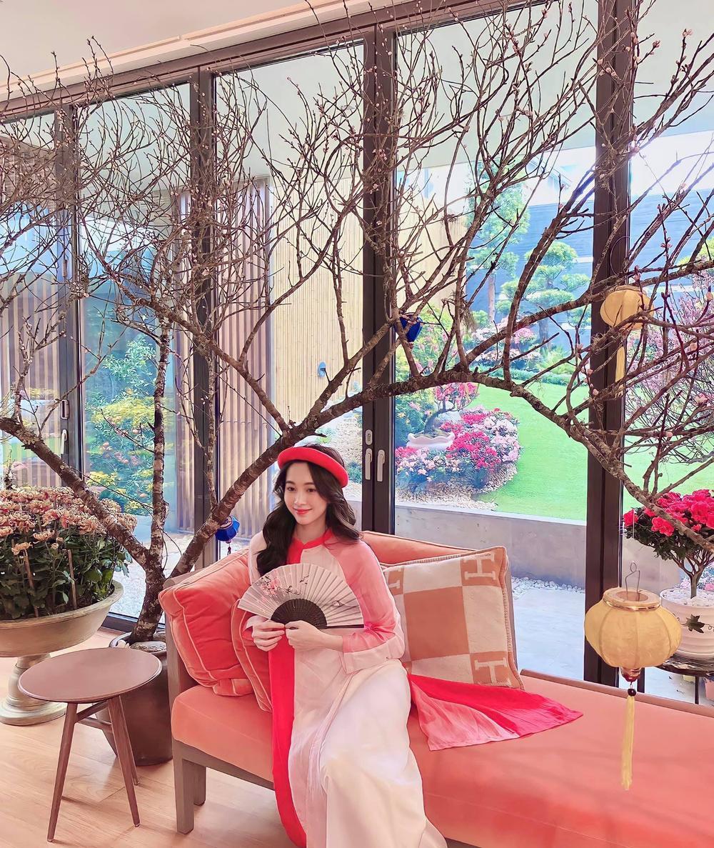 Hoa hậu Đặng Thu Thảo diện áo dài Tết đẹp đến lay động lòng người Ảnh 1