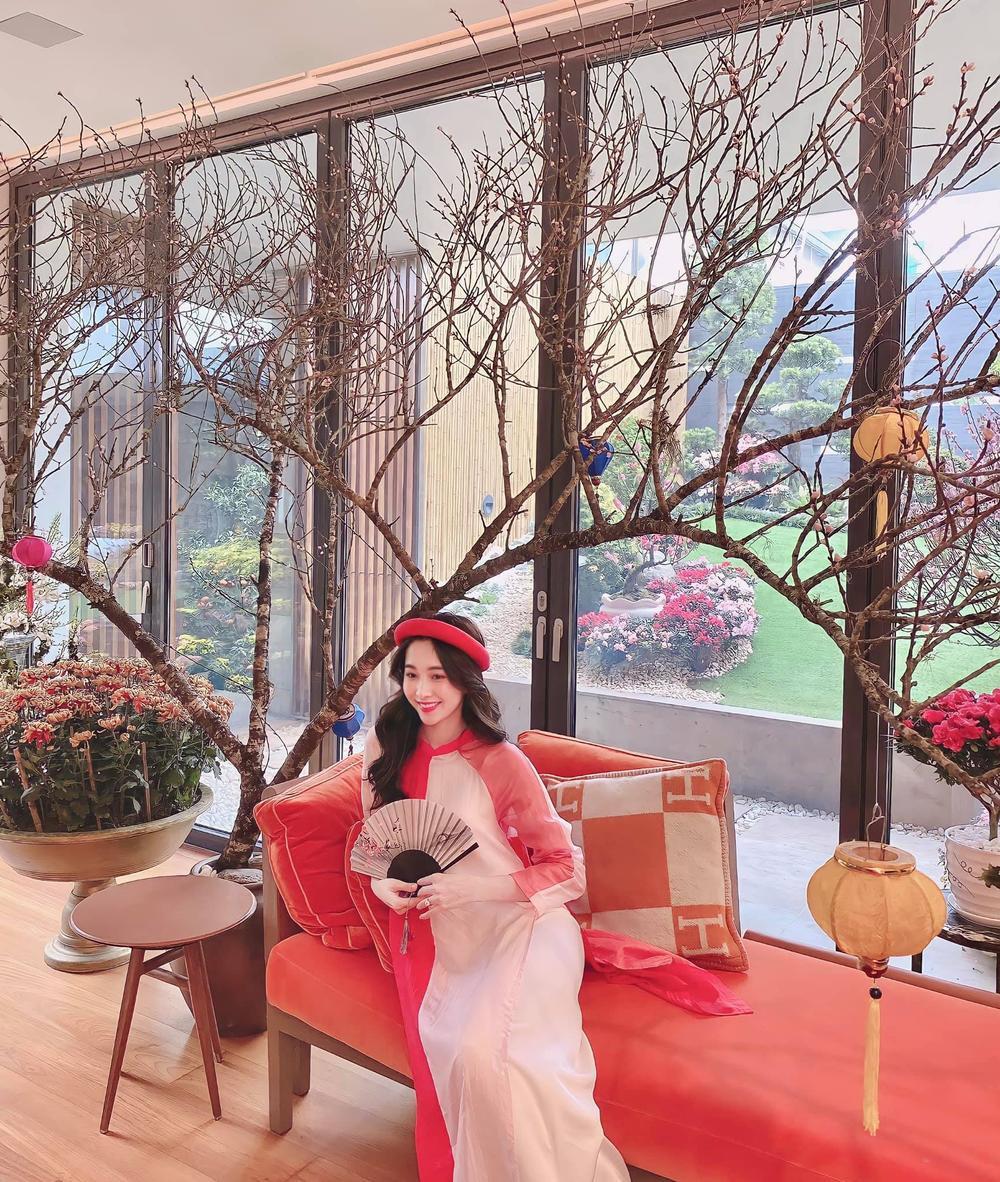Hoa hậu Đặng Thu Thảo diện áo dài Tết đẹp đến lay động lòng người Ảnh 2