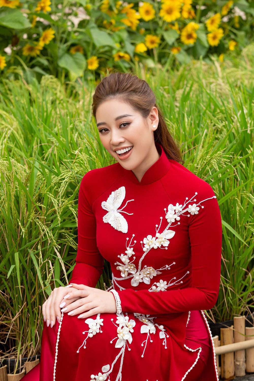 Hoa hậu Đặng Thu Thảo diện áo dài Tết đẹp đến lay động lòng người Ảnh 5