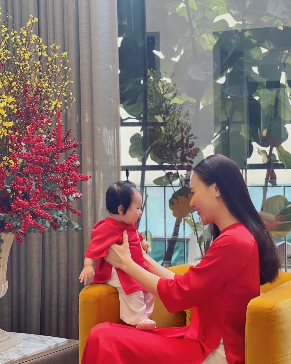 Nhóc tì nhà sao Việt diện áo dài ngày Tết: Cưng nhất hẳn là con gái Đông Nhi Ảnh 5
