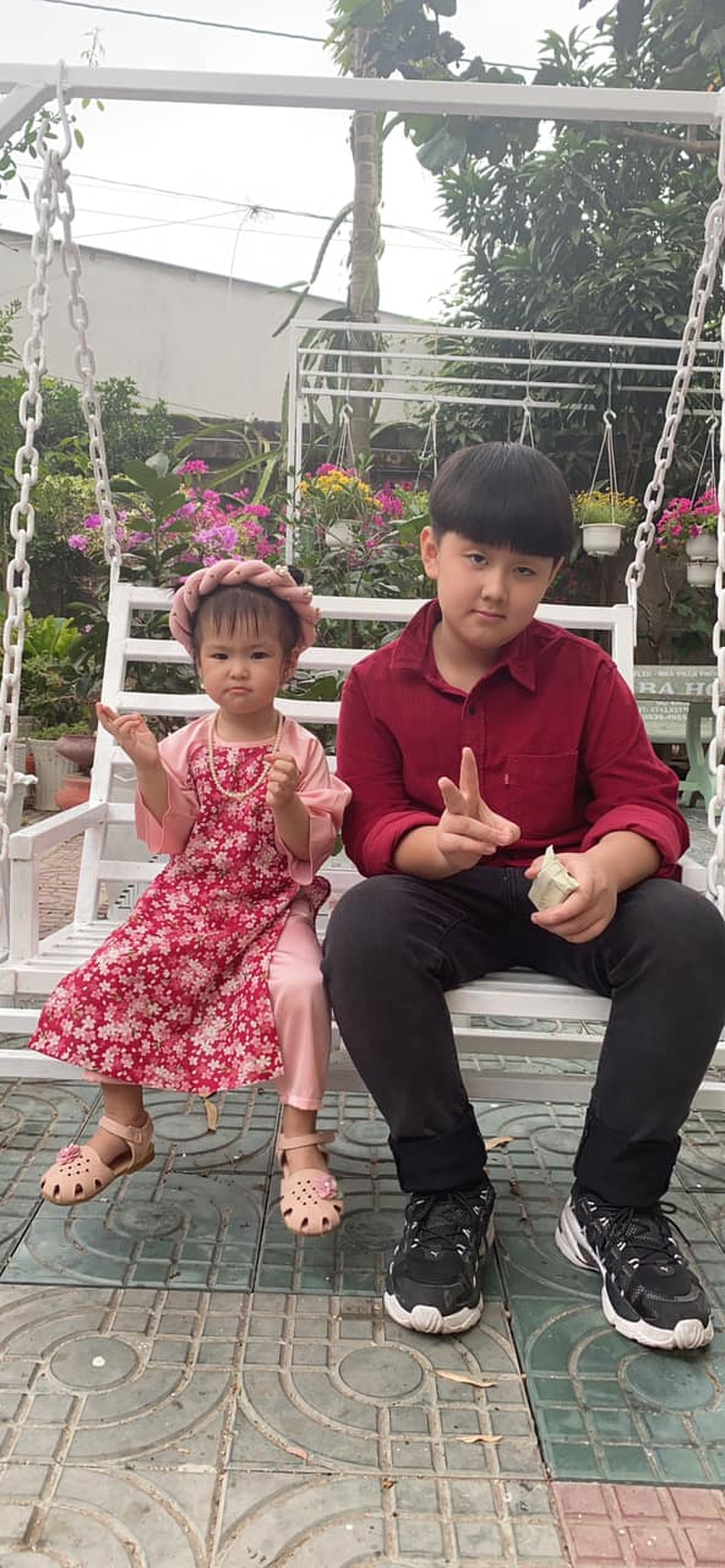 Nhóc tì nhà sao Việt diện áo dài ngày Tết: Cưng nhất hẳn là con gái Đông Nhi Ảnh 15