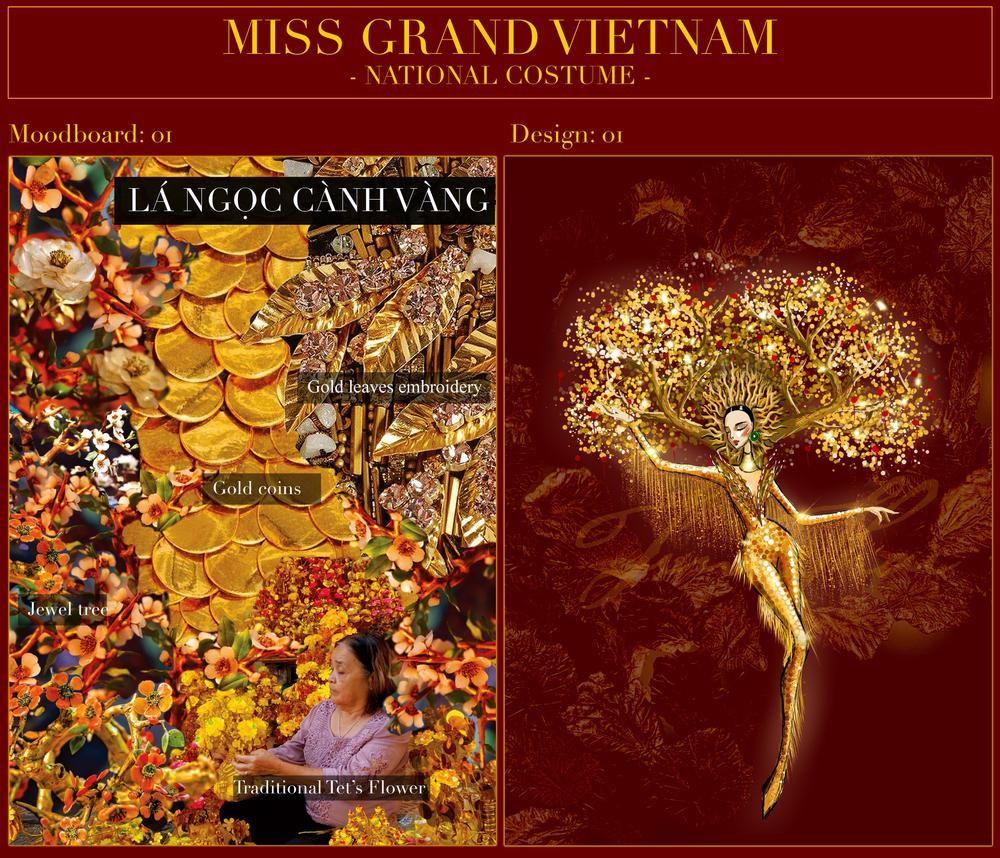 Á hậu Ngọc Thảo tung 2 mẫu National Costume hoành tráng nhờ fan vote dự thi Miss Grand Ảnh 4