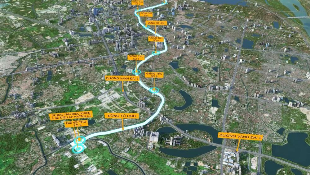 Đề xuất xây dựng hệ thống hầm ngầm khổng lồ chống ngập kết hợp cao tốc ngầm chống ùn tắc dọc sông Tô Lịch Ảnh 1