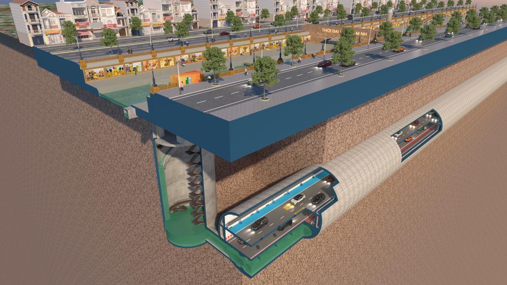 Đề xuất xây dựng hệ thống hầm ngầm khổng lồ chống ngập kết hợp cao tốc ngầm chống ùn tắc dọc sông Tô Lịch Ảnh 2