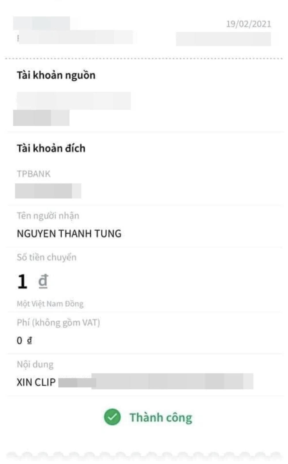 Vô tình để lộ số tài khoản ngân hàng, Sơn Tùng bị anti-fan lì xì kèm lời nhắn 'dở khóc dở cười' Ảnh 2