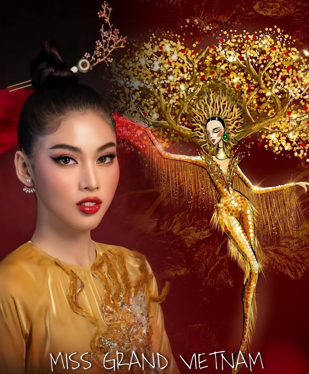Trang phục dân tộc của Á hậu Ngọc Thảo ở Miss Grand International bị nghi đạo nhái nước ngoài Ảnh 12