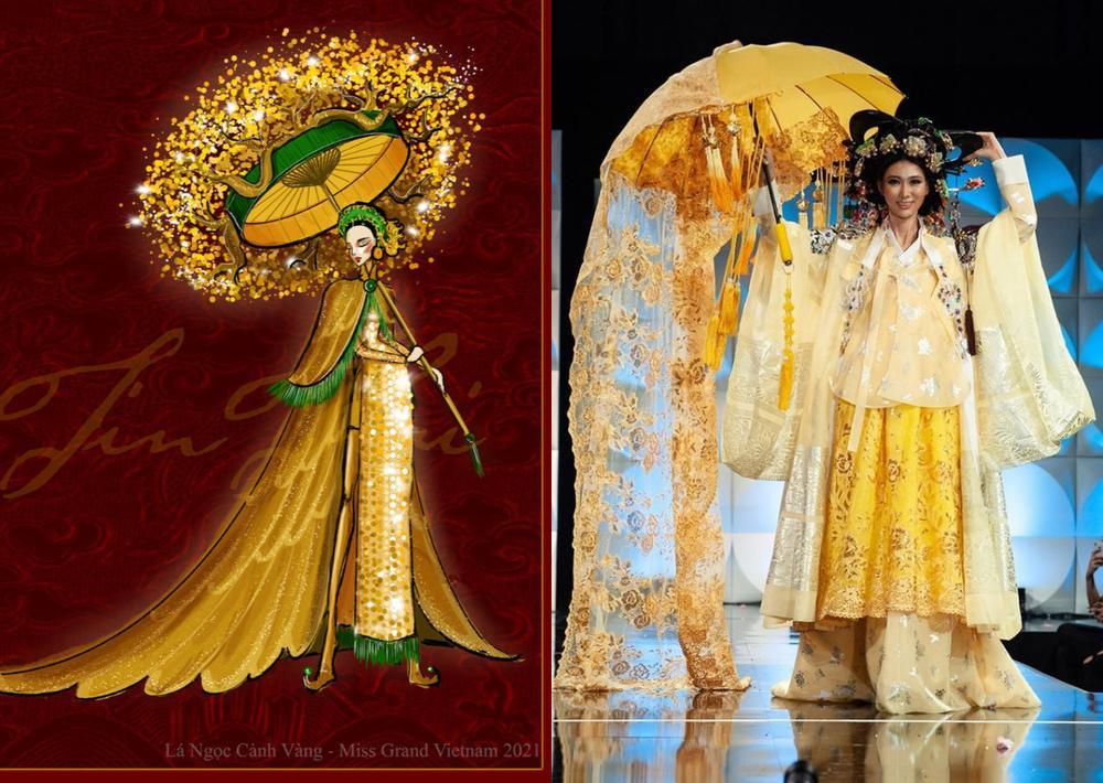 Trang phục dân tộc của Á hậu Ngọc Thảo ở Miss Grand International bị nghi đạo nhái nước ngoài Ảnh 4