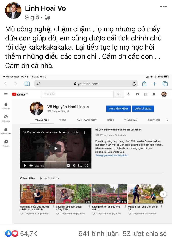 NSƯT Hoài Linh thừa nhận 'mù công nghệ' nhưng thành tích trên mạng xã hội vẫn khiến nhiều người mơ ước Ảnh 3
