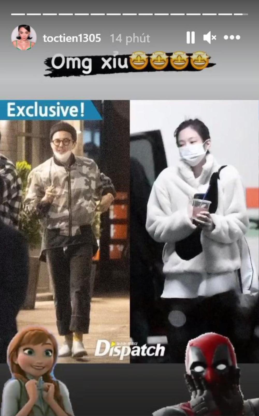 Huyền My, Tóc Tiên chúc mừng G-Dragon - Jennie vì đang hẹn hò, 'đáng thương' nhất là Diệu Nhi Ảnh 3
