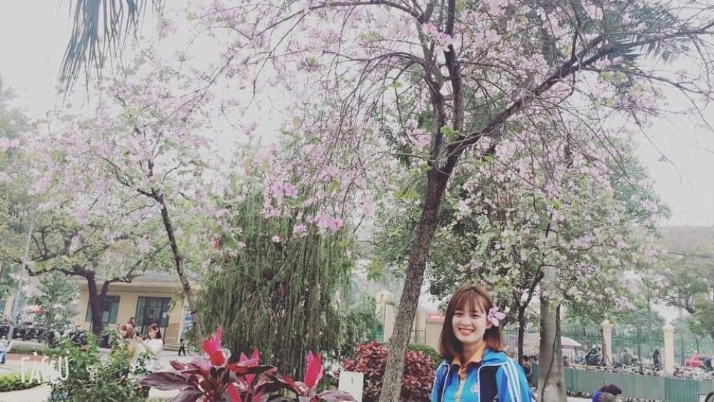 Tháng 2 này, đẹp nao lòng với ngôi trường ở Hà Nội nở rộ sắc tím hoa ban Ảnh 11