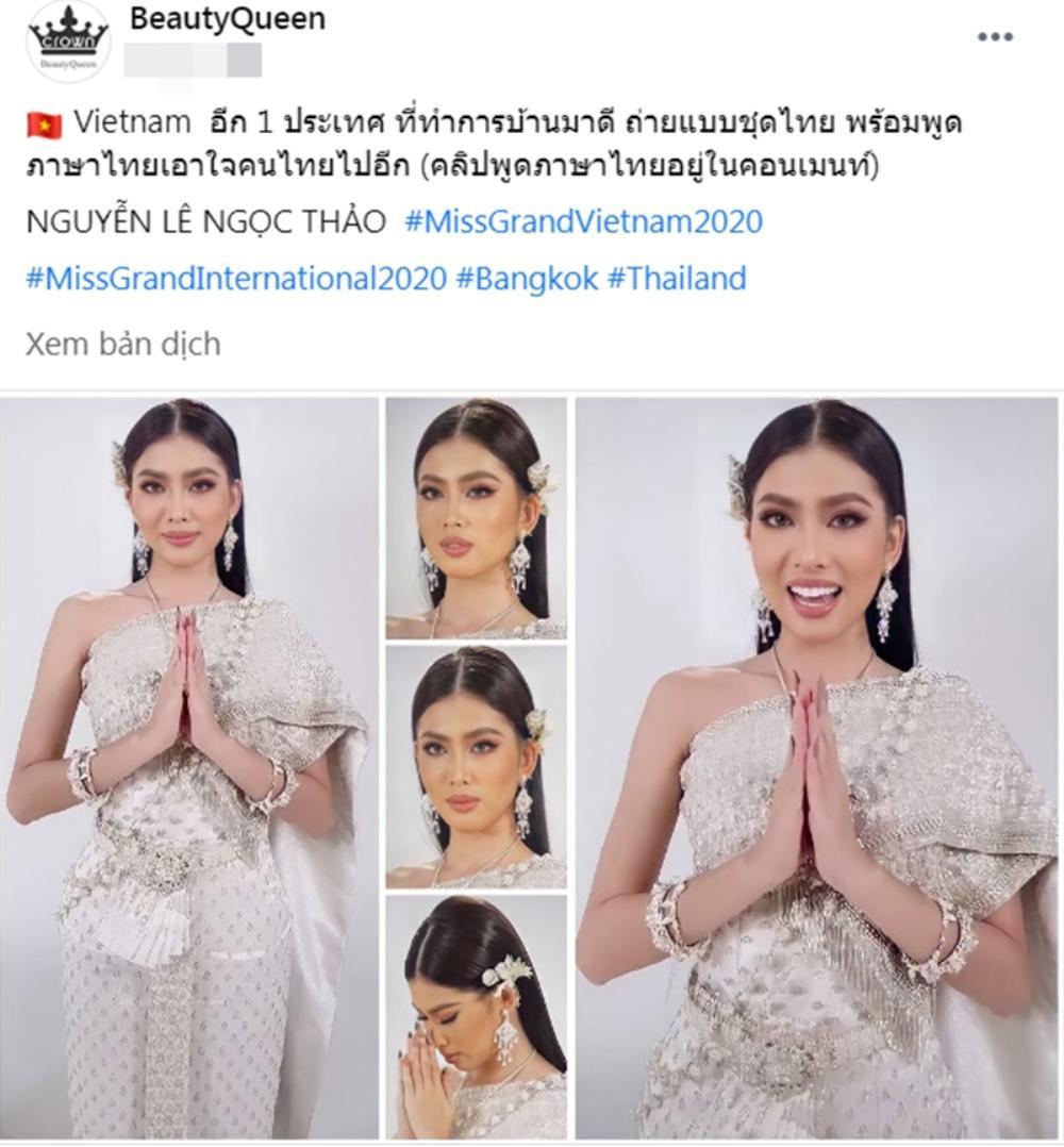 Ngọc Thảo được fan Thái khen tới tấp: Hài lòng nước chủ nhà, đẹp hơn cả hoa hậu Philippines Ảnh 3