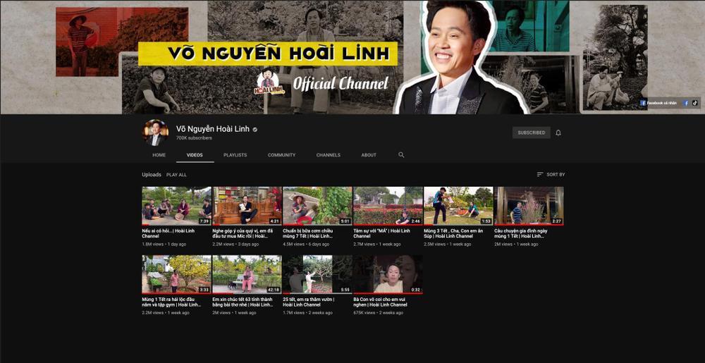 NSƯT Hoài Linh mừng kênh YouTube đạt 700 nghìn lượt đăng ký, xin dân mạng ngừng 'trộm clip' Ảnh 3