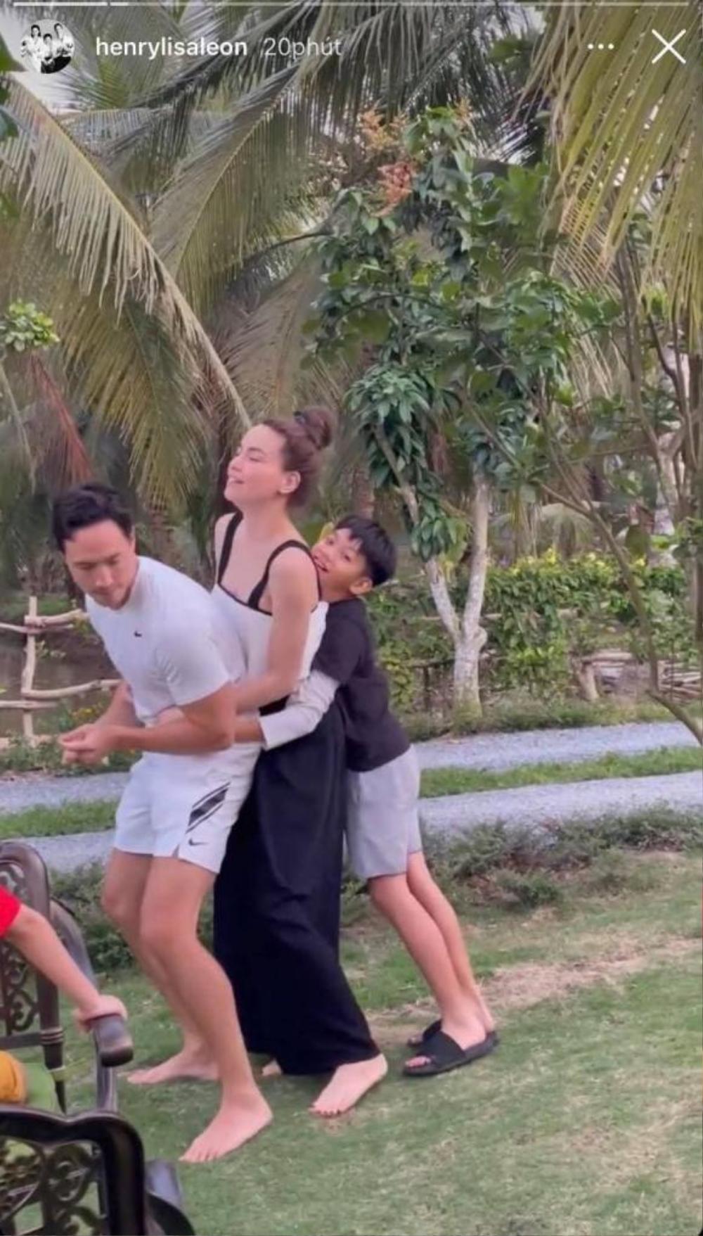 Hồ Ngọc Hà, Kim Lý 'nối đuôi' nhau nhảy 'xe lửa' cực hài, Subeo giữa chừng phải bỏ cuộc Ảnh 2
