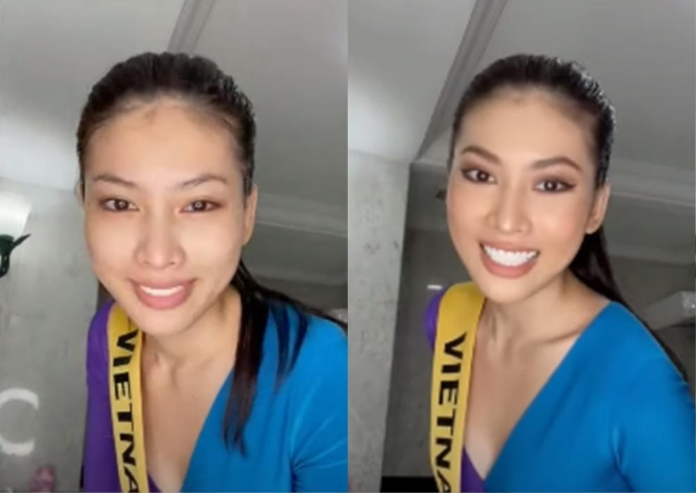 Phần thi mặt mộc Miss Grand: Ngọc Thảo rạng rỡ dù không son phấn, đối thủ Indonesia make-up quá đà Ảnh 4