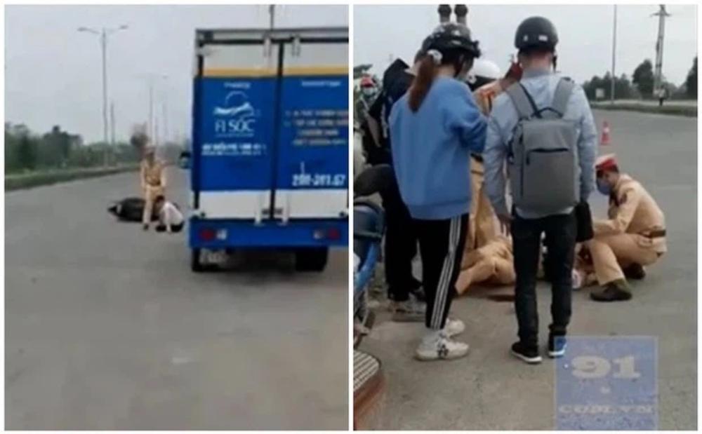 Vĩnh Phúc: Chiến sĩ CSGT bị 2 thiếu niên 17 tuổi vít ga xe máy tông gãy xương chân tay và xương gò má Ảnh 2