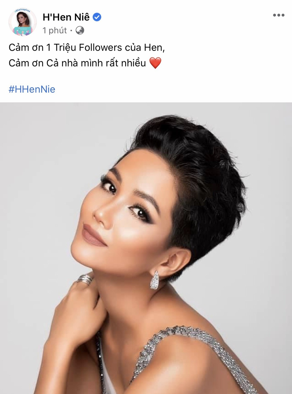 'Lọ lem châu Á' H'Hen Niê kiều diễm với váy dạ hội lấp lánh mừng thành tích đặc biệt Ảnh 3