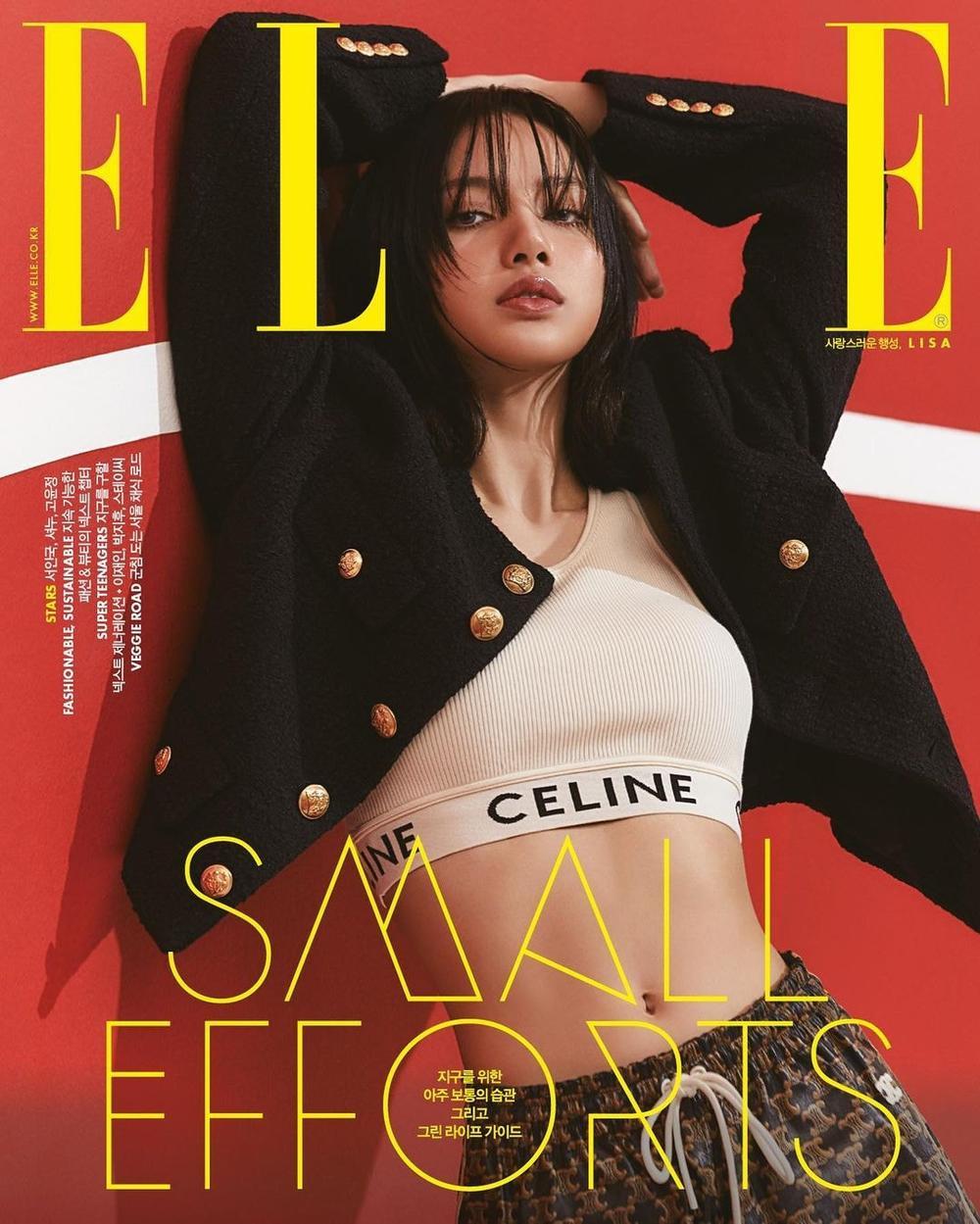 Lisa Black Pink khoe body 'vạn người mê' xứng danh nàng thơ Celine trên tạp chí Elle Ảnh 1
