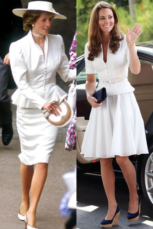 Sợi chỉ đỏ xuyên suốt gu thời trang của Công nương Diana và hai con dâu Kate & Meghan Ảnh 7