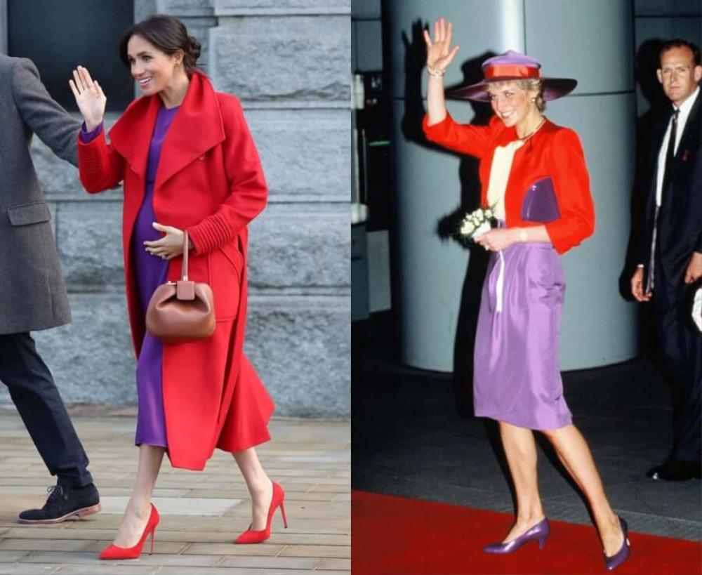 Sợi chỉ đỏ xuyên suốt gu thời trang của Công nương Diana và hai con dâu Kate & Meghan Ảnh 16