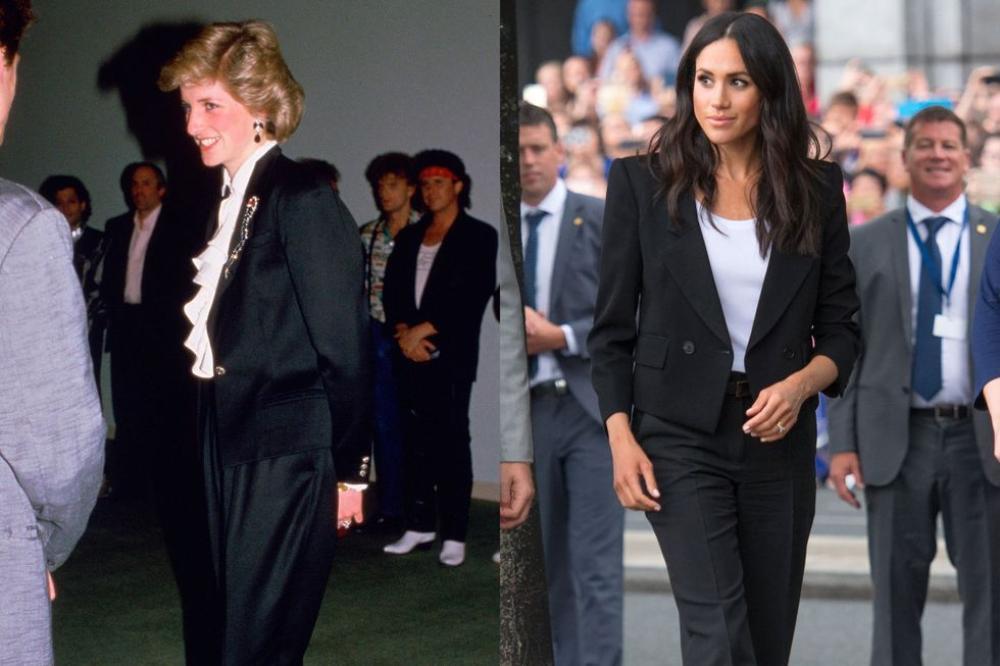 Sợi chỉ đỏ xuyên suốt gu thời trang của Công nương Diana và hai con dâu Kate & Meghan Ảnh 14