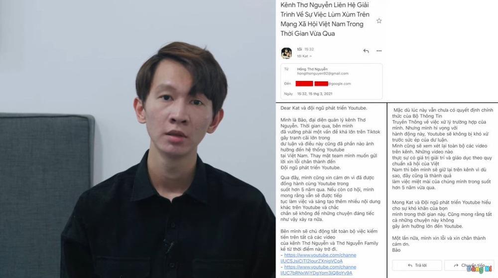 Thơ Nguyễn xin lỗi, ẩn hết video và tắt kiếm tiền từ YouTube trong video 'tạm biệt' Ảnh 3