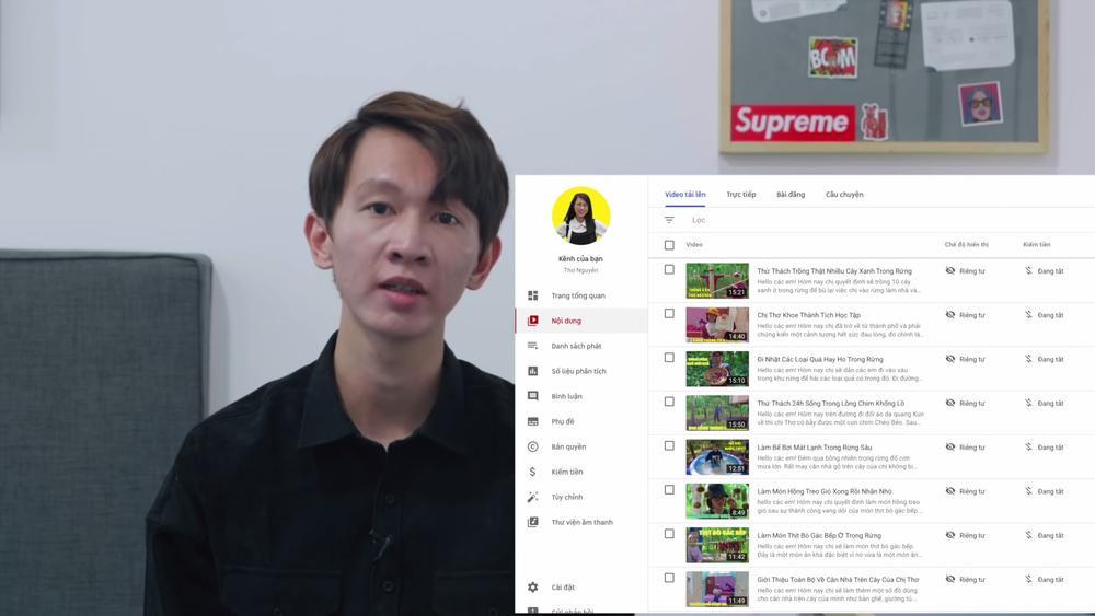 Thơ Nguyễn xin lỗi, ẩn hết video và tắt kiếm tiền từ YouTube trong video 'tạm biệt' Ảnh 2
