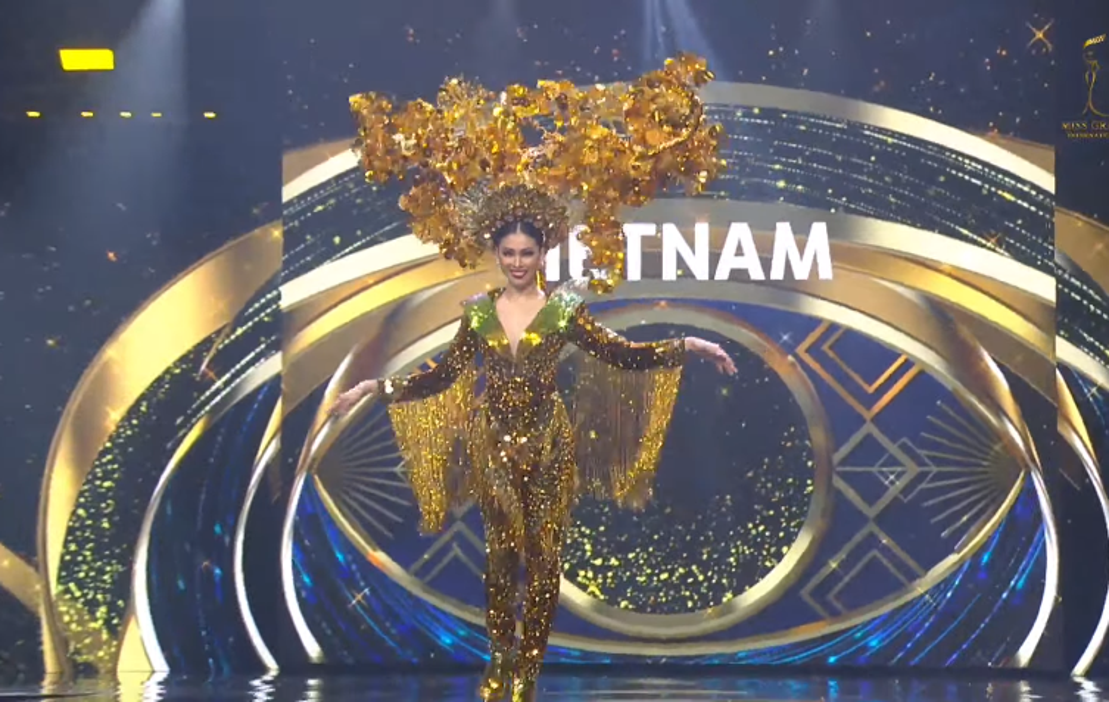 Ngọc Thảo tự tin trình diễn 'Lá ngọc cành vàng' phát sáng, hứa hẹn giật giải Best National Costume Ảnh 2