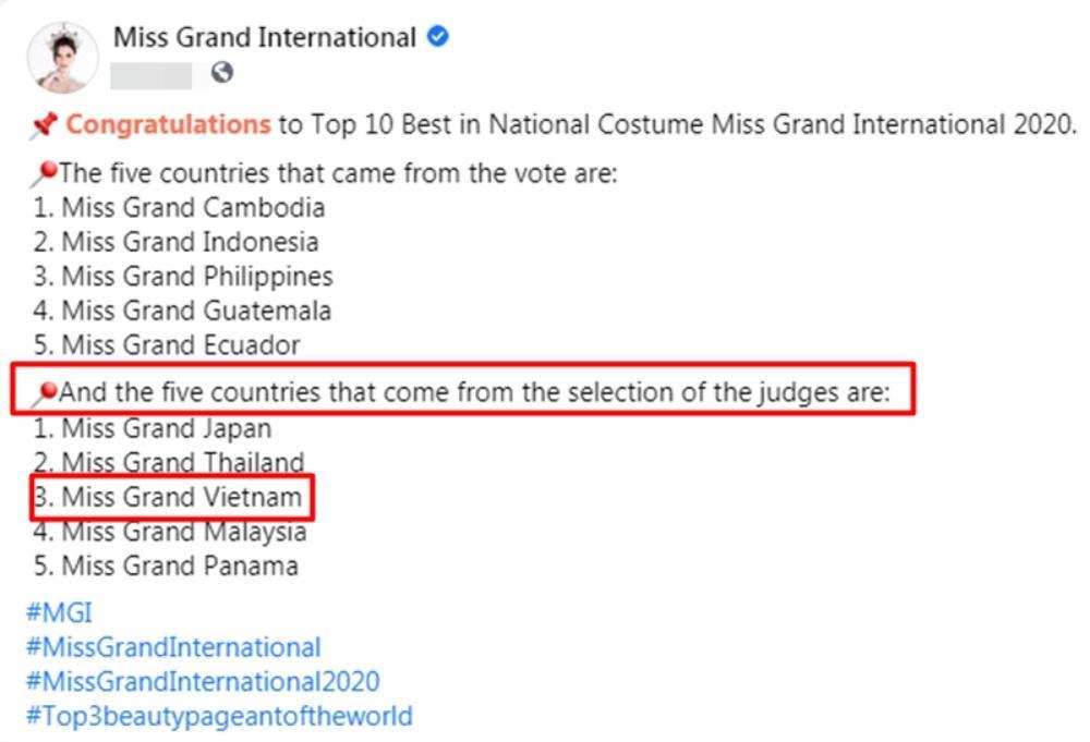 Ngọc Thảo xếp hạng 2 tổng bình chọn tiến thẳng Top 10, BGK 'cứu' luôn vào Top 5 Best National Costume Ảnh 1