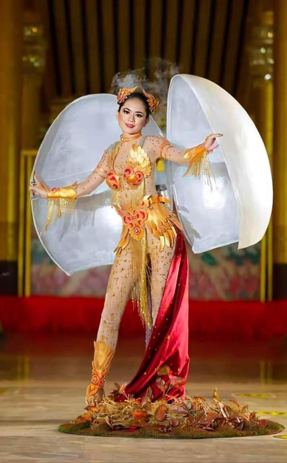 Vừa lộ diện, Trang phục dân tộc chính thức của Khánh Vân bị tố đạo nhái quốc phục Myanmar? Ảnh 5