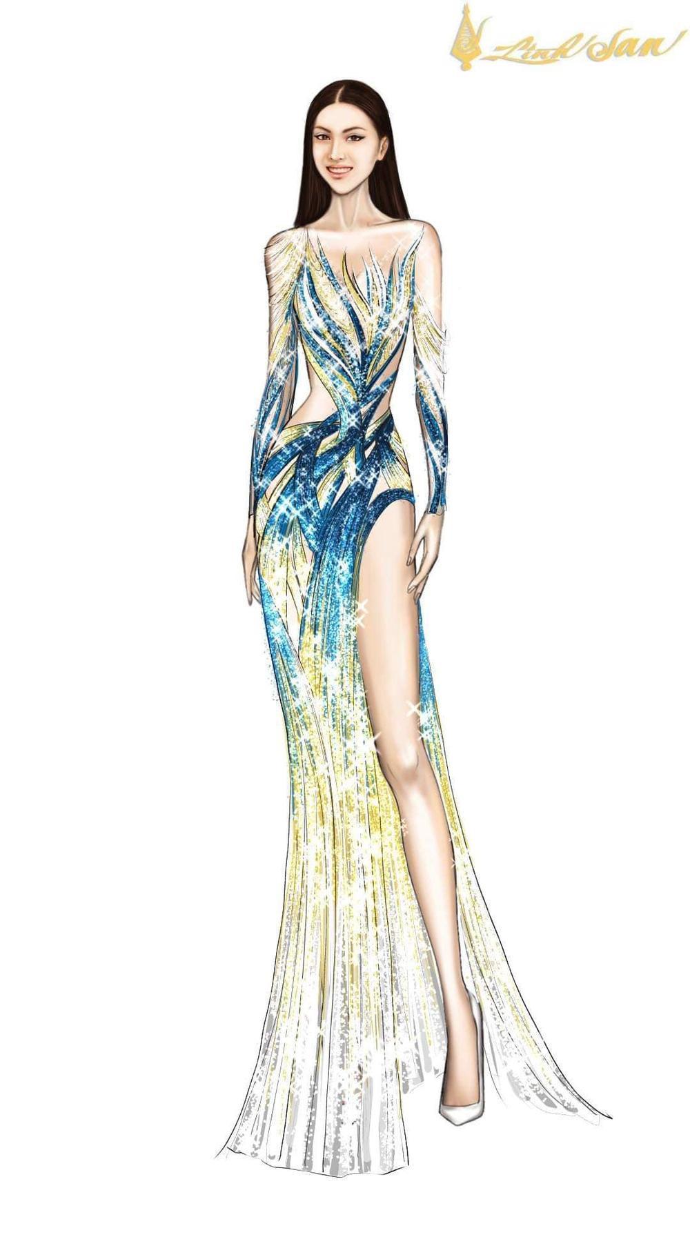 7 bộ váy dạ hội đẹp tinh xảo mà Ngọc Thảo không có cơ hội trình diễn tại Miss Grand International Ảnh 17