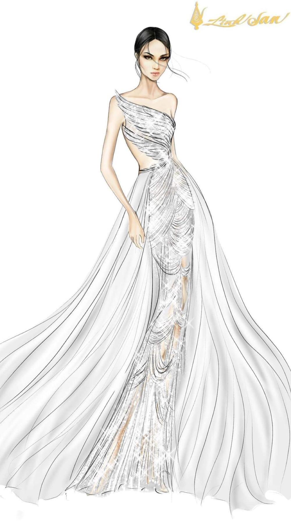 7 bộ váy dạ hội đẹp tinh xảo mà Ngọc Thảo không có cơ hội trình diễn tại Miss Grand International Ảnh 13