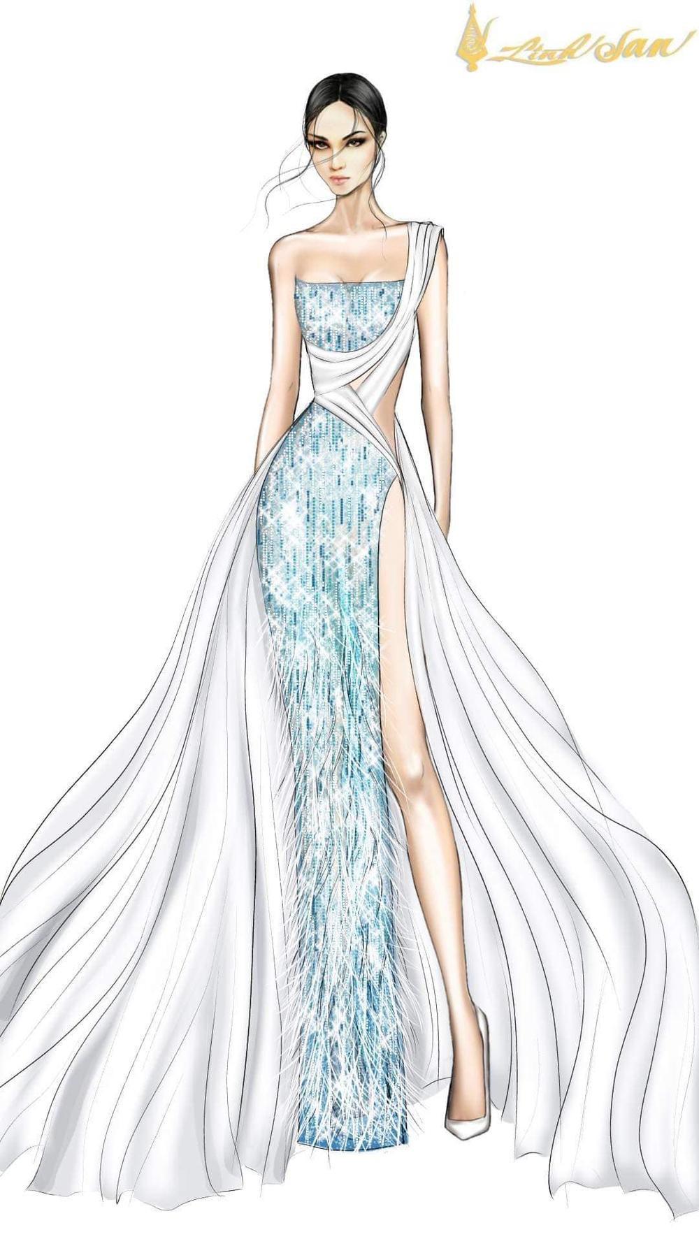 7 bộ váy dạ hội đẹp tinh xảo mà Ngọc Thảo không có cơ hội trình diễn tại Miss Grand International Ảnh 15