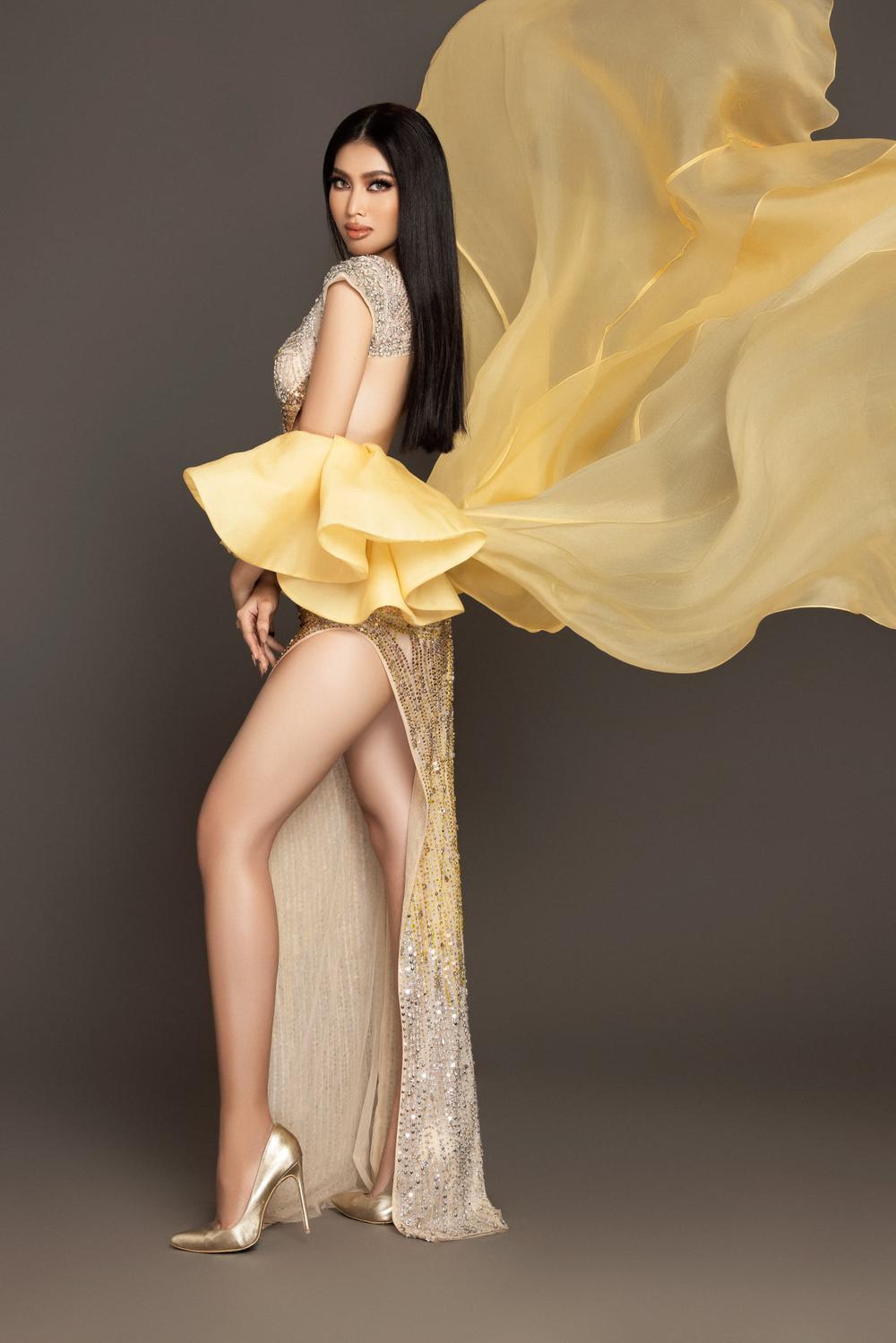 7 bộ váy dạ hội đẹp tinh xảo mà Ngọc Thảo không có cơ hội trình diễn tại Miss Grand International Ảnh 2