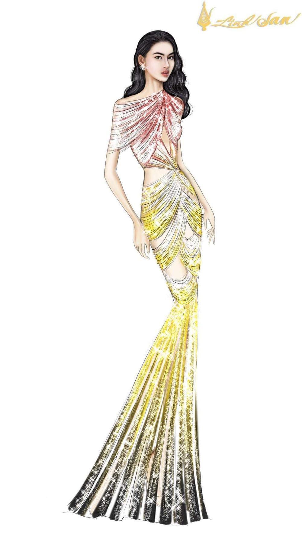 7 bộ váy dạ hội đẹp tinh xảo mà Ngọc Thảo không có cơ hội trình diễn tại Miss Grand International Ảnh 14