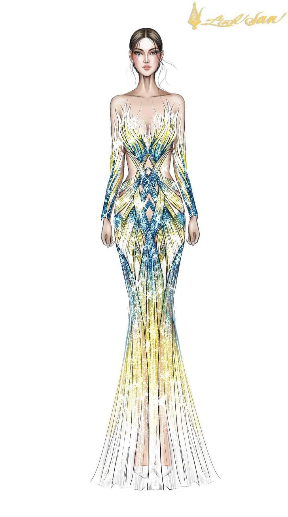 7 bộ váy dạ hội đẹp tinh xảo mà Ngọc Thảo không có cơ hội trình diễn tại Miss Grand International Ảnh 12