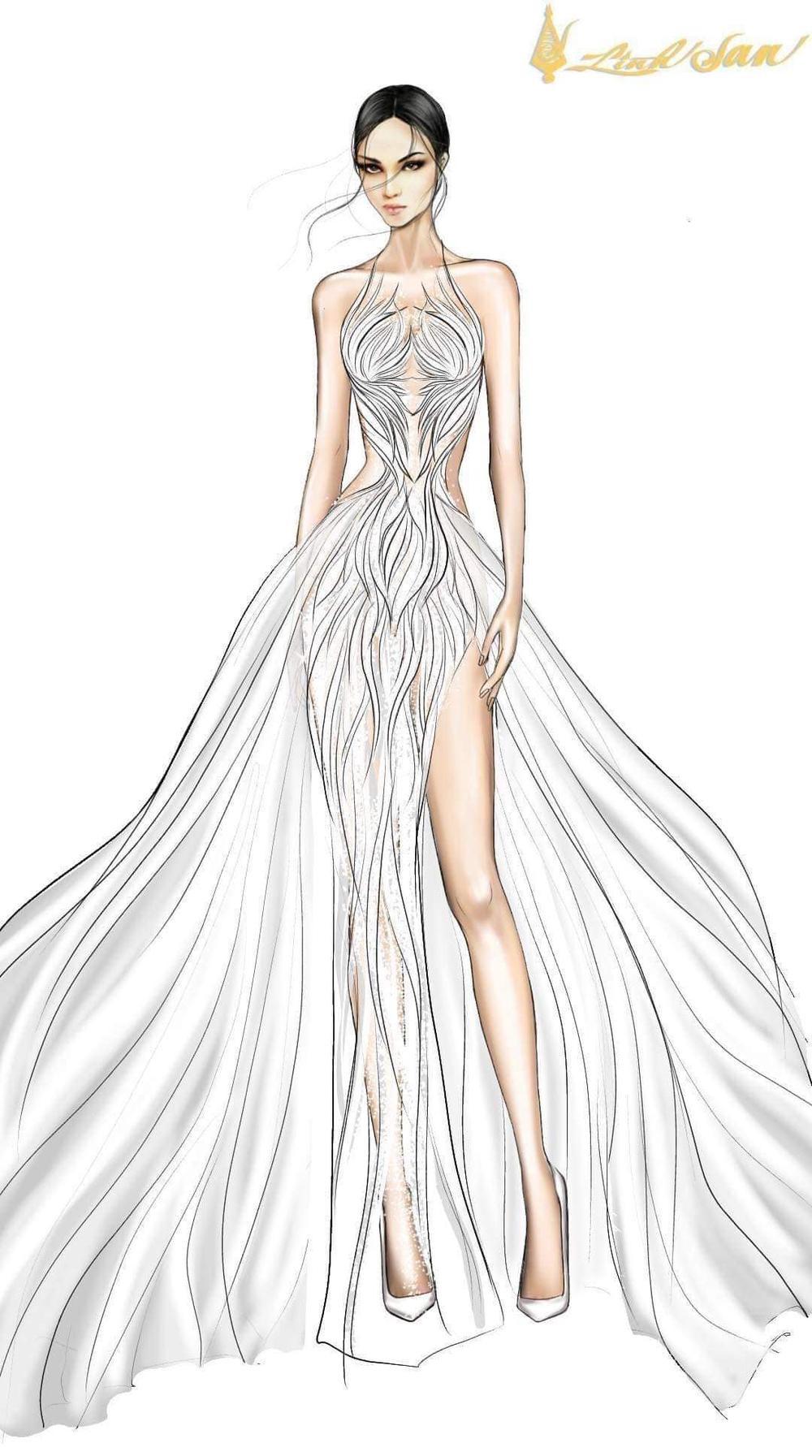 7 bộ váy dạ hội đẹp tinh xảo mà Ngọc Thảo không có cơ hội trình diễn tại Miss Grand International Ảnh 16