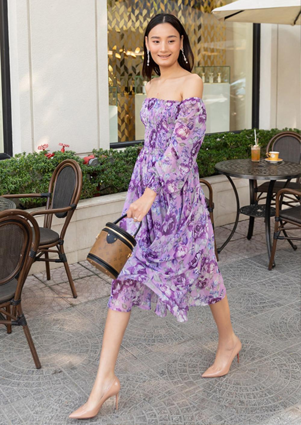 Hoa hậu Đặng Thu Thảo lấn át siêu mẫu Lê Thúy khi diện váy tím bay bổng Ảnh 3