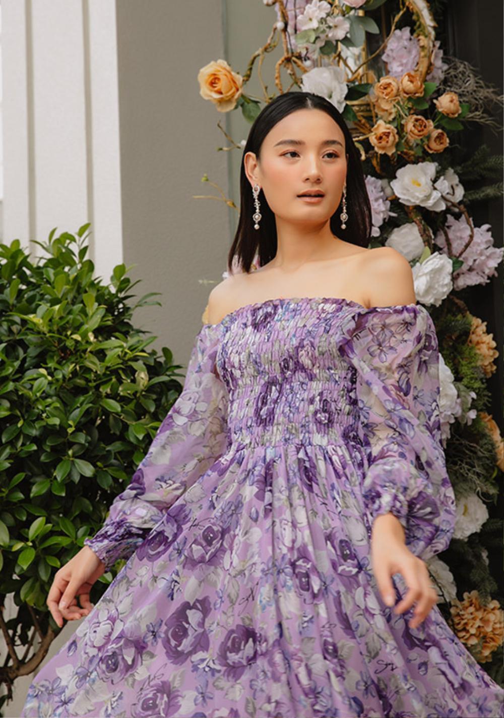 Hoa hậu Đặng Thu Thảo lấn át siêu mẫu Lê Thúy khi diện váy tím bay bổng Ảnh 6