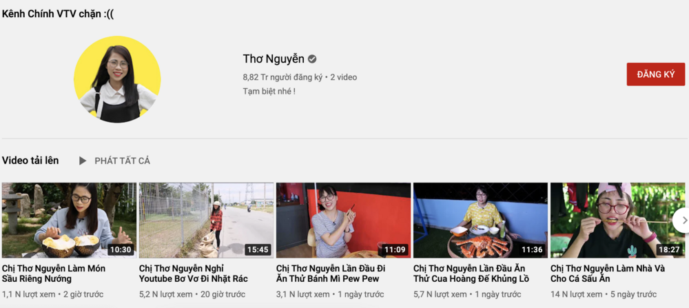Mặc kệ Thơ Nguyễn tuyên bố ngừng hoạt động, hàng loạt tài khoản giả vẫn hoạt động rầm rộ trên YouTube Ảnh 3