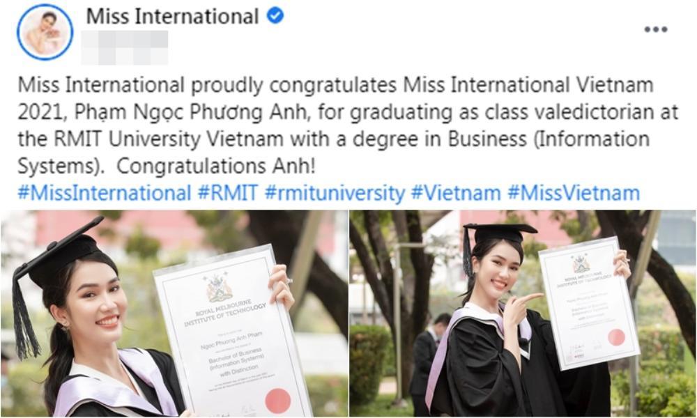Miss International khen ngợi thành tích học tập của Phương Anh: Vương miện Big 3 đang đến rất gần? Ảnh 2