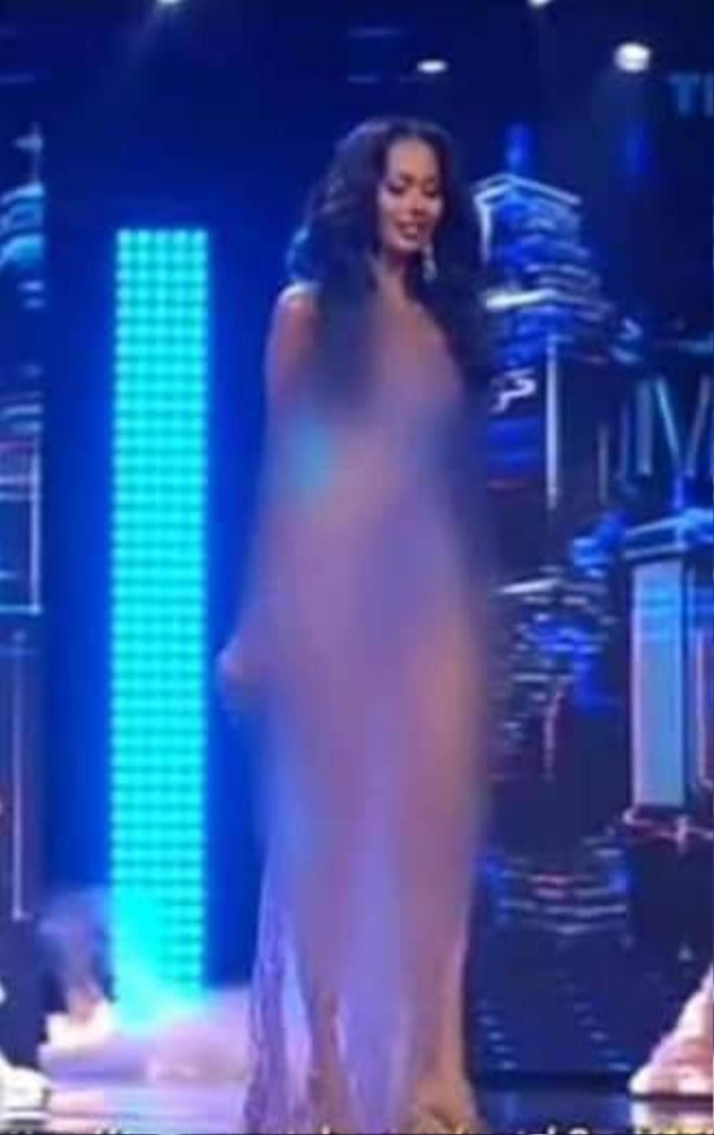 Miss Grand Indonesia bị truyền hình quốc gia che mờ toàn thân vì váy mỏng như sương Ảnh 3