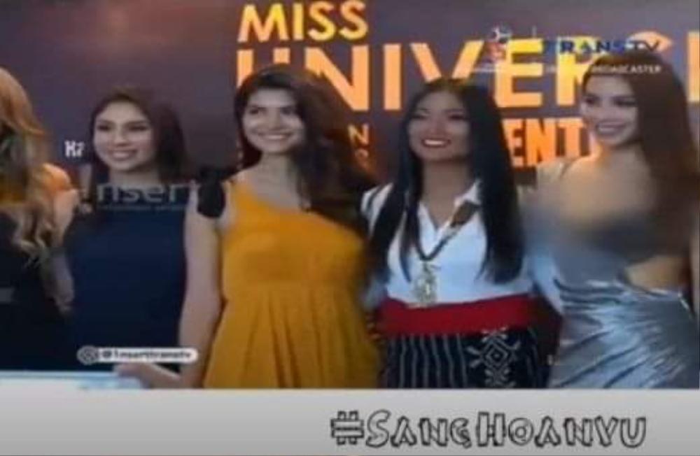 Miss Grand Indonesia bị truyền hình quốc gia che mờ toàn thân vì váy mỏng như sương Ảnh 4