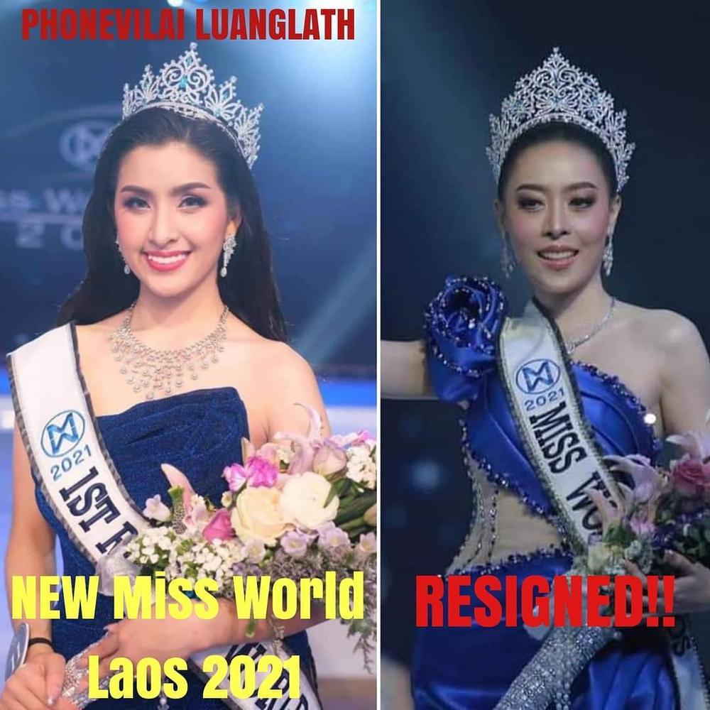Tân hoa hậu Lào bỏ ngôi vị vì khai gian tuổi, á hậu 1 lên ngôi 'kèn cựa' Đỗ Thị Hà tại Miss World? Ảnh 2