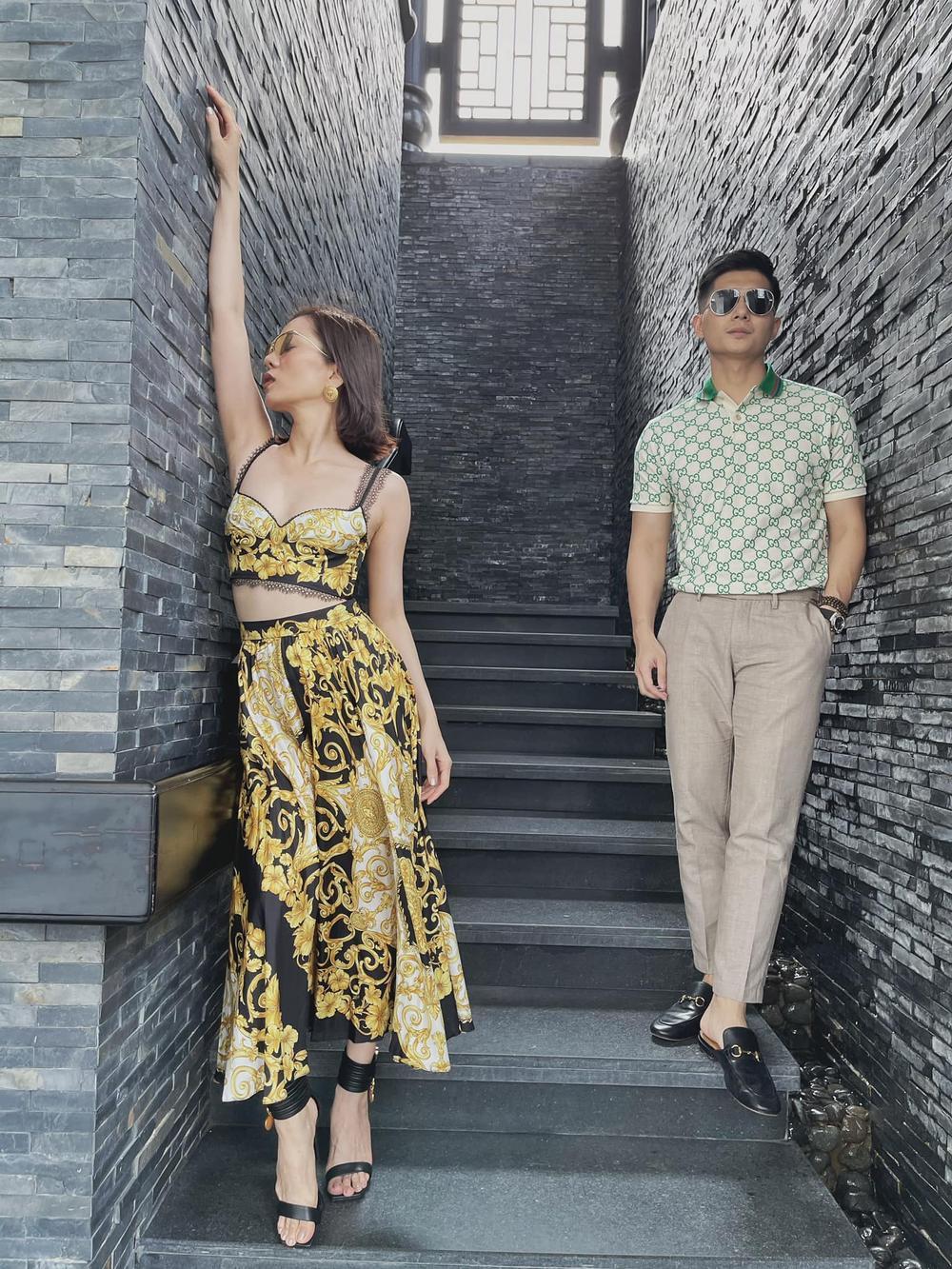 Lệ Quyên 'đụng độ' em chồng Hà Tăng với váy áo họa tiết sặc sỡ, khó phân bì ai đẹp hơn Ảnh 2