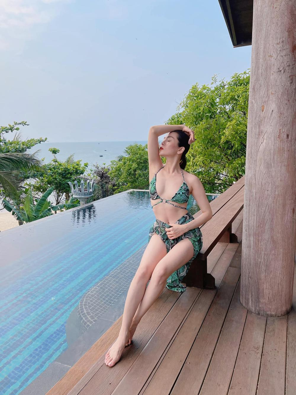 Lệ Quyên mặc bikini khoe body 'siêu thực' thách thức camera thường Ảnh 3