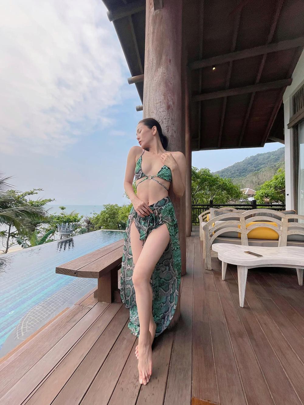 Lệ Quyên mặc bikini khoe body 'siêu thực' thách thức camera thường Ảnh 2