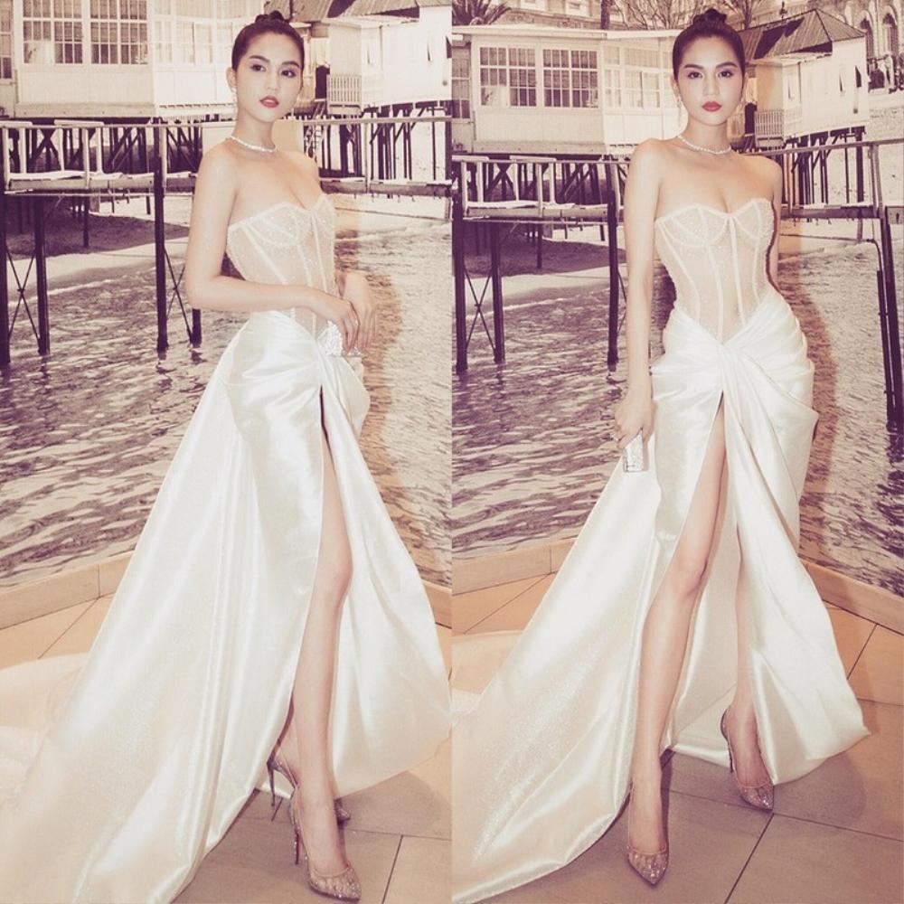 'Nữ hoàng nội y' Ngọc Trinh diện váy corset khoe body đồng hồ cát vạn người mê Ảnh 5