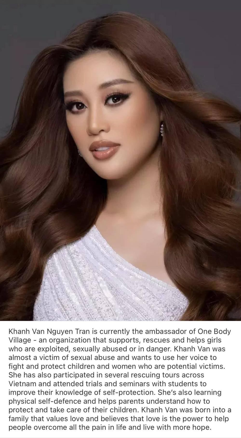 Khánh Vân cuốn hút với ảnh profile Miss Universe 2020: Đại sứ giải cứu trẻ em lay động fan sắc đẹp Ảnh 1