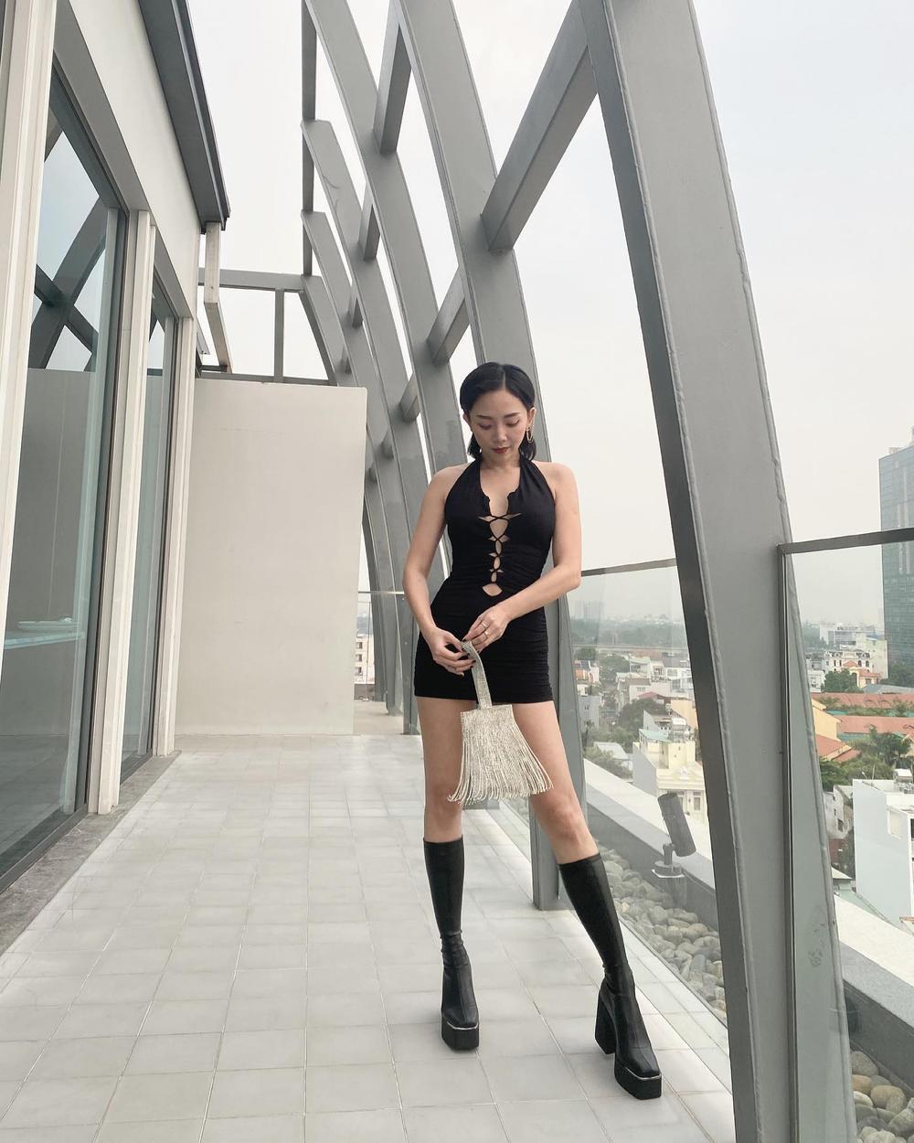 Tóc Tiên khoe khéo vóc dáng trong mơ với bodysuit đan dây chéo ngực Ảnh 3