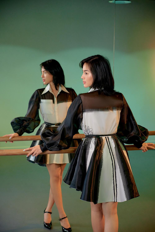 'Cô em Trendy' Khánh Linh hoá nàng thơ trong những bộ đầm từ chất liệu tái chế Ảnh 8